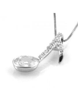 Collana con nota musicale in argento 925