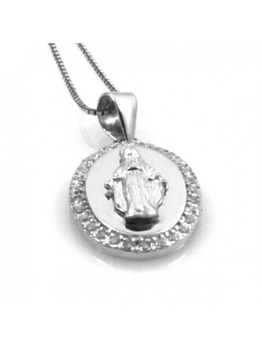 Collana con medaglia miracolosa in argento 925