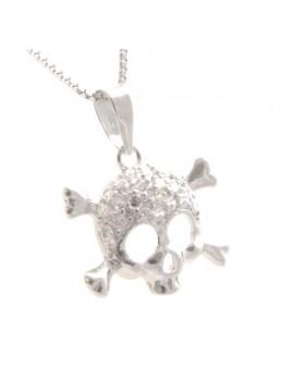 Collana con simbolo morte in argento 925