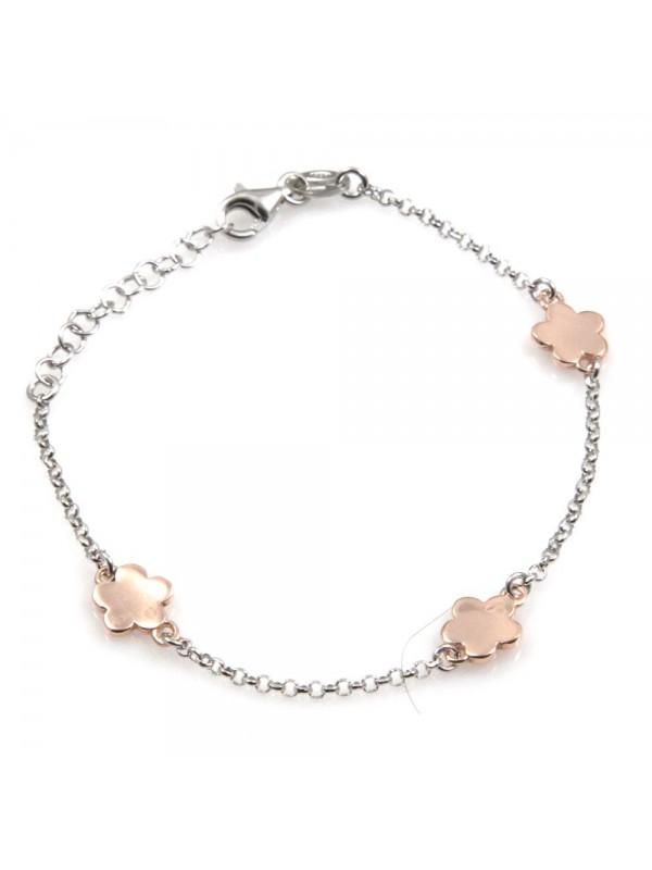 bracciale donna con fiorellini in argento 925