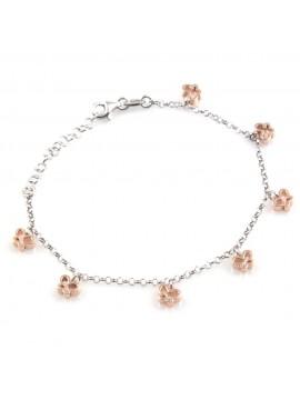 bracciale donna con ciondoli farfalle in argento 925