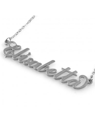 collana con nome Elisabetta in acciaio da donna
