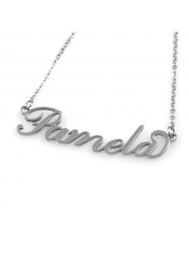collana con nome Pamela in acciaio da donna
