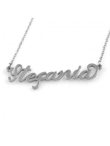 collana con nome Stefania in acciaio da donna