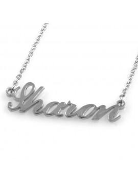 collana con nome Sharon in acciaio da donna