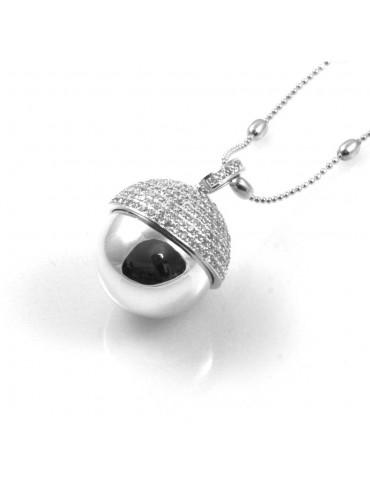 chiama angeli collana ciondolo bola messicana campanellino in bronzo e strass luminosissimo ft1- cll1474