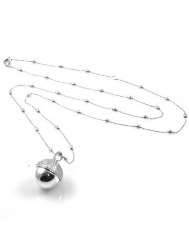 chiama angeli collana ciondolo bola messicana campanellino in bronzo e strass luminosissimo ft2 - cll1474