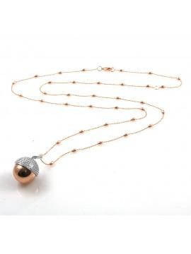 chiama angeli collana ciondolo bola messicana campanellino in bronzo e strass luminosissimo ft2 - cll1473