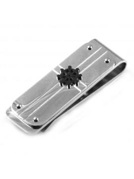 Ferma soldi in acciaio uomo con elemento timone - fsl025