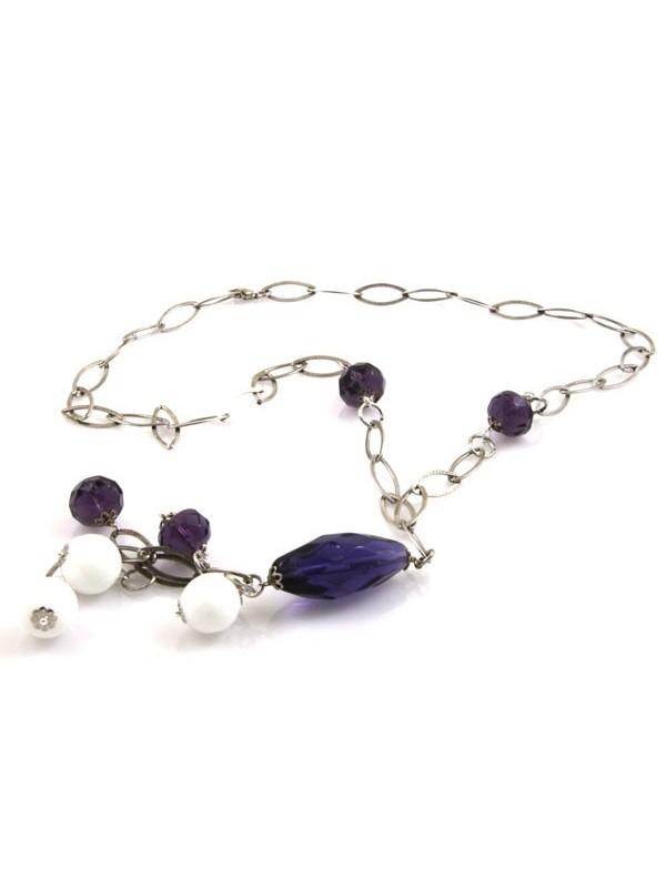 Collana argento donna con pietre dure