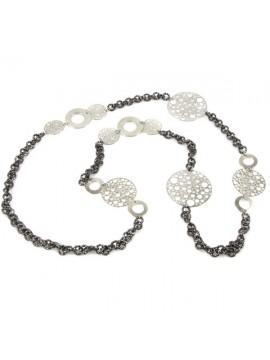 Collana donna in alluminio con medaglioni