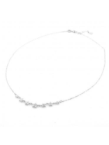 collana donna con stelline girocollo in argento 925 cll1845