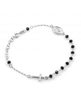 bracciale rosario in argento donna uomo - bcc2660