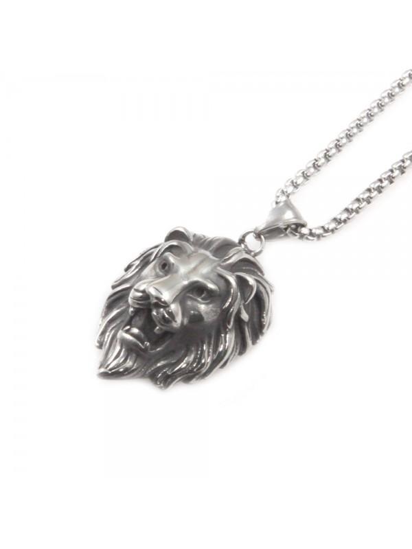 collana leone ciondolo uomo in acciaio cll0530