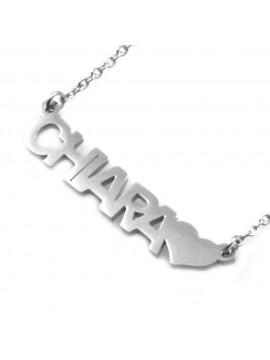 collana con nome Chiara in acciaio da donna - cll1774