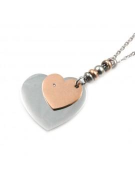 Collana donna con cuore in acciaio inossidabile - cln0001