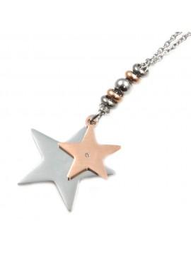 Collana donna con stella o stellina in acciaio inossidabile - cln0003