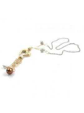 Collana in bronzo donna chanel lunga con cuore