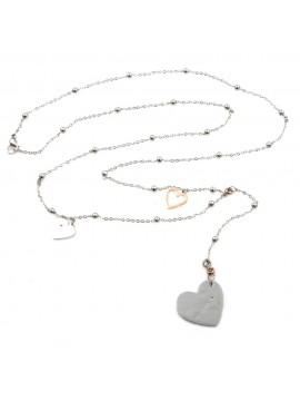 Collana cuore donna in acciaio inossidabile - cln0006