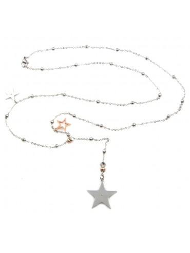 Collana stella stelline donna in acciaio inossidabile - cln0007
