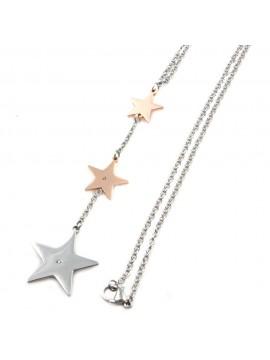 Collana stella stelline in acciaio inossidabile - cln0011
