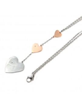 Collana cuore donna in acciaio inossidabile - cln0012