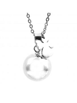 Chiama angeli collana ciondolo gravidanza richiamo con angelo o angioletto catena cm 90 mm 20