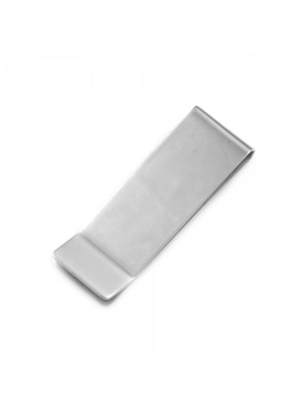 Fermasoldi uomo in acciaio personalizzabile con incisione inalterabile mm 53 mm 18 - fsl001
