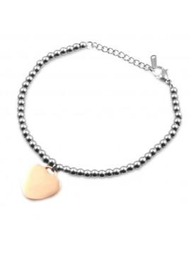 Bracciale donna in acciaio con cuore cuoricino bcc0031