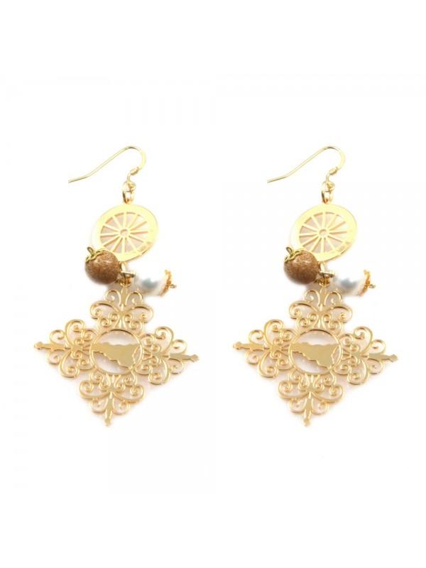 orecchini donna trinacria sicilia fichi d'india gioielli siciliani occ0105