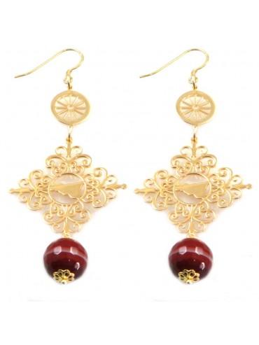 orecchini donna trinacria sicilia fichi d'india gioielli siciliani occ0107