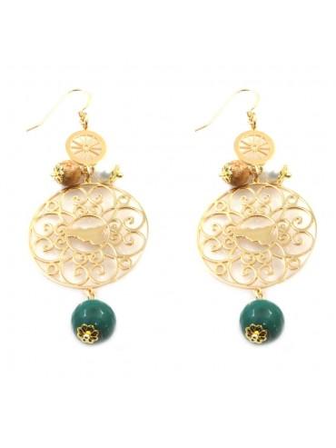 orecchini donna trinacria sicilia fichi d'india gioielli siciliani occ0111