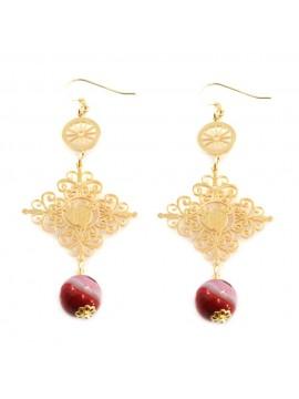 orecchini donna trinacria sicilia fichi d'india gioielli siciliani occ0112