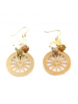 orecchini donna trinacria sicilia fichi d'india gioielli siciliani occ0114
