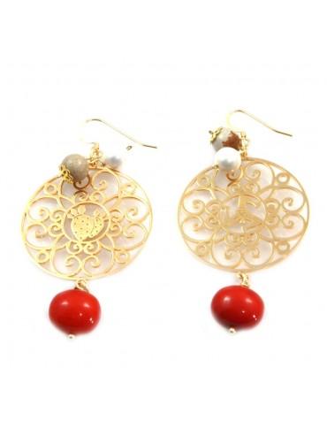 orecchini donna trinacria sicilia fichi d'india gioielli siciliani occ0116