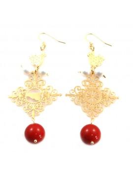 orecchini donna trinacria sicilia fichi d'india gioielli siciliani occ0118