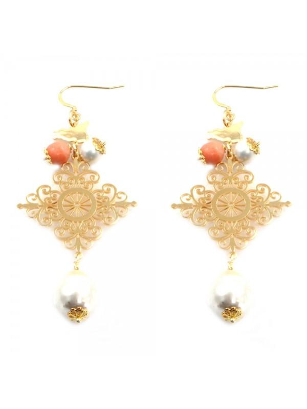 orecchini donna trinacria sicilia fichi d'india gioielli siciliani occ0119