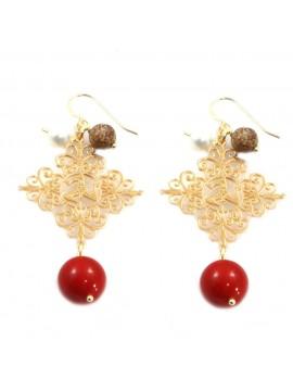 orecchini donna trinacria sicilia fichi d'india gioielli siciliani occ0120