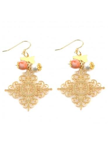 orecchini donna trinacria sicilia fichi d'india gioielli siciliani occ0121