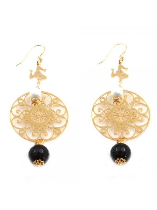 orecchini donna trinacria sicilia fichi d'india gioielli siciliani occ0122