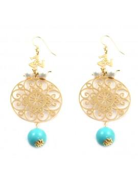 orecchini donna trinacria sicilia fichi d'india gioielli siciliani occ0123