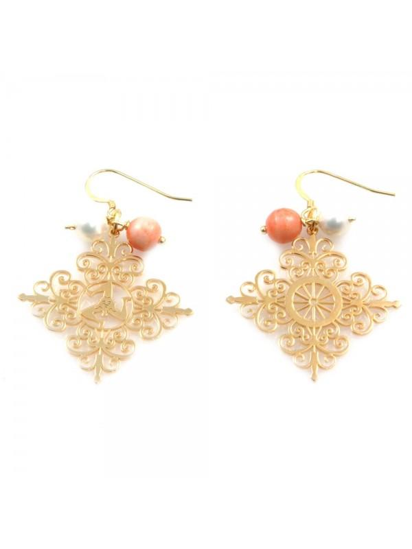 orecchini donna trinacria sicilia fichi d'india gioielli siciliani mm 80 mm 40 occ0126
