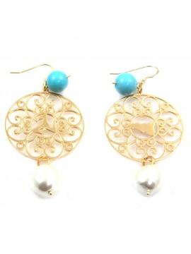 orecchini donna trinacria sicilia fichi d'india gioielli siciliani occ0127