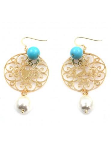 orecchini donna trinacria sicilia fichi d'india gioielli siciliani occ0128