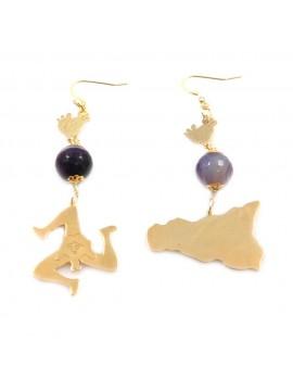 orecchini donna trinacria sicilia fichi d'india gioielli siciliani occ0131