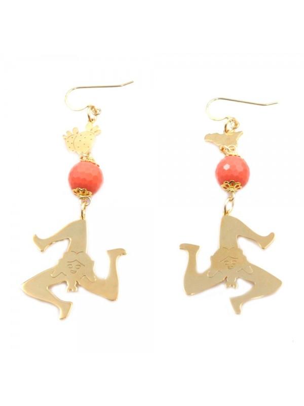 orecchini donna trinacria sicilia fichi d'india gioielli siciliani occ0132