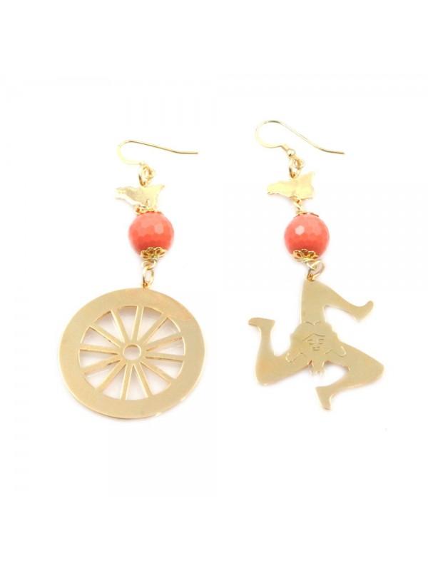 orecchini donna trinacria sicilia fichi d'india gioielli siciliani occ0133