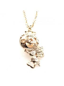 Collana donna con ape in bronzo