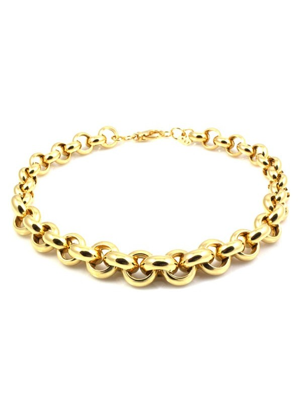 Collana donna girocollo in bronzo dorato