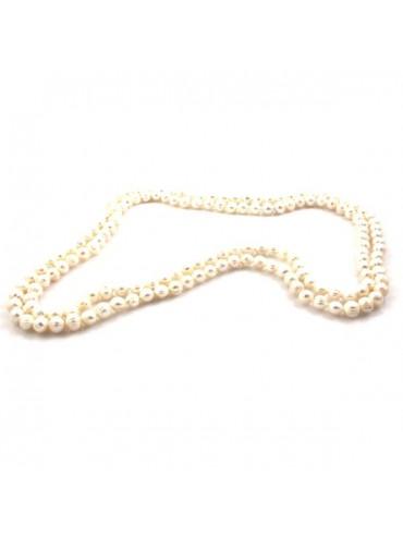 Collana di perle donna doppio filo